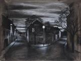 """<h5>Au point de la nuit</h5><p>Charcoal on paper, 26½"""" x 35"""" (67.3cm x 88.9cm)</p>"""