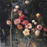 "<h5>Variation of Flowers</h5><p>Oil and wax on canvas, 39 ½ x 39 ½""																																																																																		(100 x 100cm)																																																																																					</p>"
