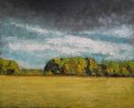"<h5>La Fin de L'été</h5><p>Oil on canvas, 31¾"" x 39 ½"" (81 x 100cm) </p>"