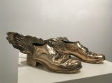 "<h5>Traveling Shoes</h5><p>Polished bronze, 4 x 9 x 11 ½""  (10 x 22 ¾ x 29 ¼cm)																																																																																																																																																																																																																													</p>"