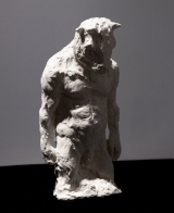 "<h5>Standing Minotaur (¾ Study)</h5><p>Plaster, 9 x 15 x 8 ¼"" (22.8 x 38 x 21cm)</p>"