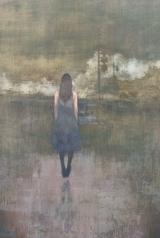 "<h5>No Distance</h5><p>Acrylic on canvas, 48 x 30"" (122 x 76 ¼cm)</p>"