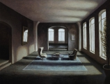 "<h5>Tapis bleu II</h5><p>Oil on canvas, 35"" x 45½"" (89 x 115.5cm)</p>"