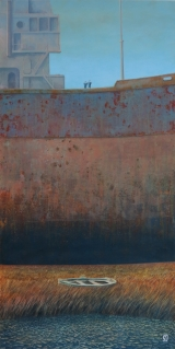 "<h5>Deux marins</h5><p>Oil on board, 47"" x 23½"" (119 x 60cm)																																																		</p>"