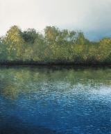 """<h5>La nuit, la rivière, le jour</h5><p>Oil on canvas, 59"""" x 49"""" (150 x 125cm)</p>"""