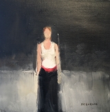 "<h5>Red Belt</h5><p>Oil on canvas, 15¾"" x 15¾"" (40 x 40cm)</p>"