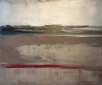 """<h5>On the Sand</h5><p>Oil on canvas, 21"""" x 25¼"""" (53.3 x 64)</p>"""