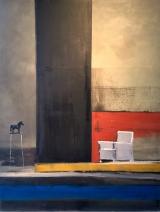 "<h5>Black Pearl</h5><p>Oil on canvas, 45"" x 35"" (114.3 x 89cm)</p>"