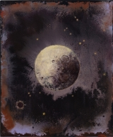 "<h5>Lunaison II</h5><p>Pure pigment, marble powder, and acrylic on board, 11 ¾"" x 10"" (29.9 x 25cm)																	</p>"