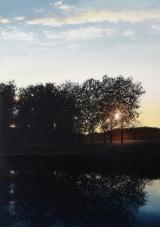 "<h5>Au bord de l'eau</h5><p>Oil on canvas, 78¾"" x 55"" (200 x 140cm)</p>"