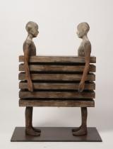 "<h5>Enfrentados</h5><p>Bronze, wood, and iron, 35½ x 27½ x 11¾"" (90 x 70 x 30cm)</p>"