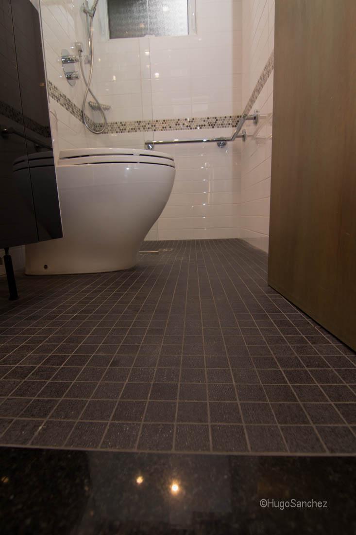 White Bathroom Floor Tile