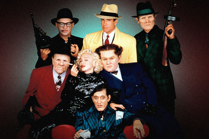 On the set of Dick Tracy