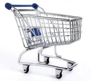 kar met wieltjes supermarkt