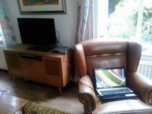 tv kijken via laptop