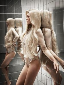 extensions gl blond long salon coiffure rouen