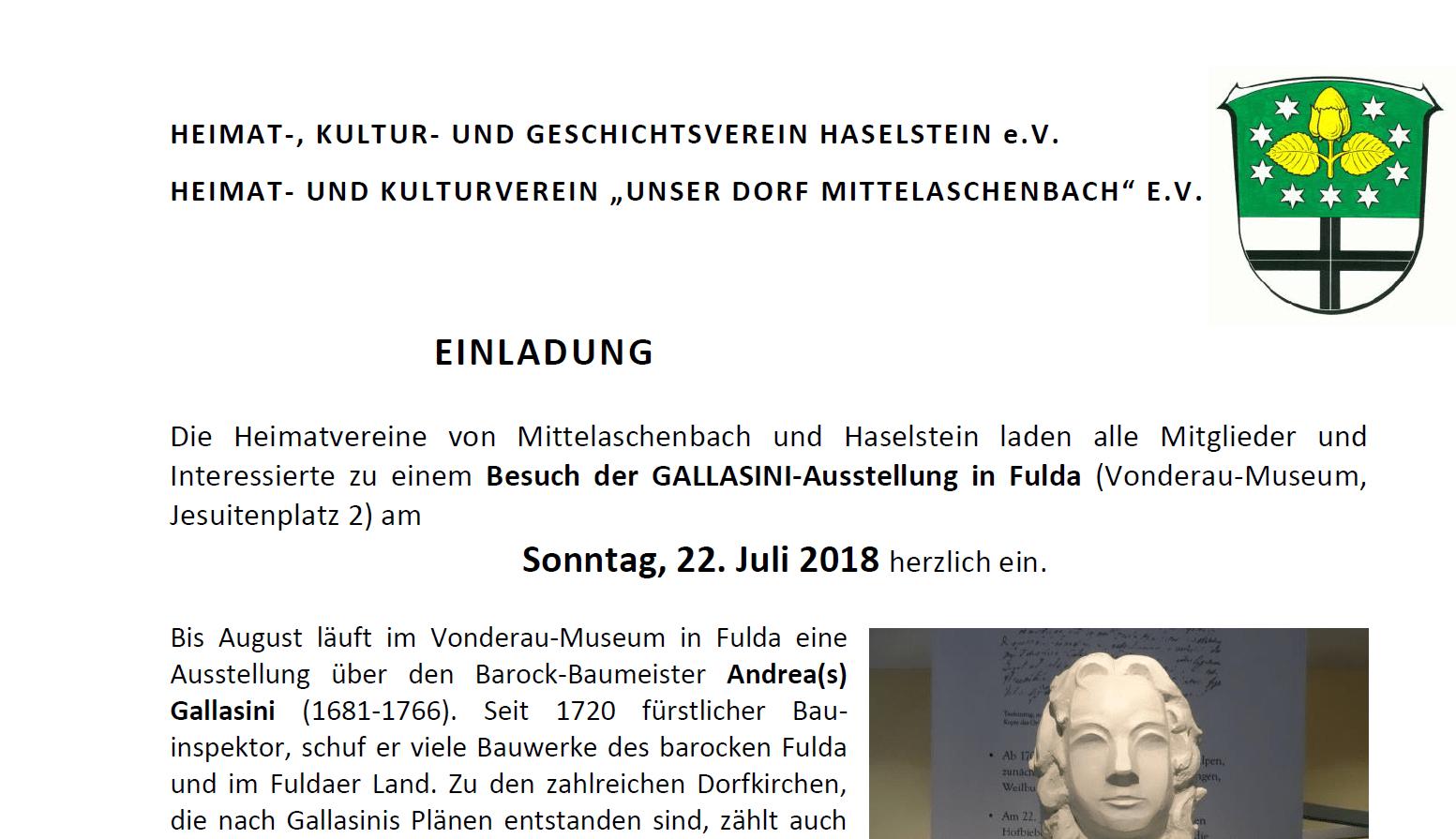 Gallasini-Ausstellung