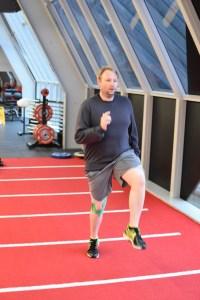 Joel Lovegrove training
