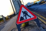 Roadworks in place in Hull.