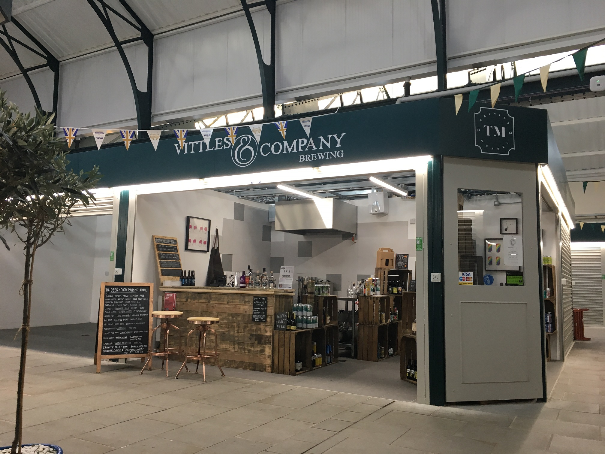 The micro-brewery brews and sells its beer in Trinity Market.