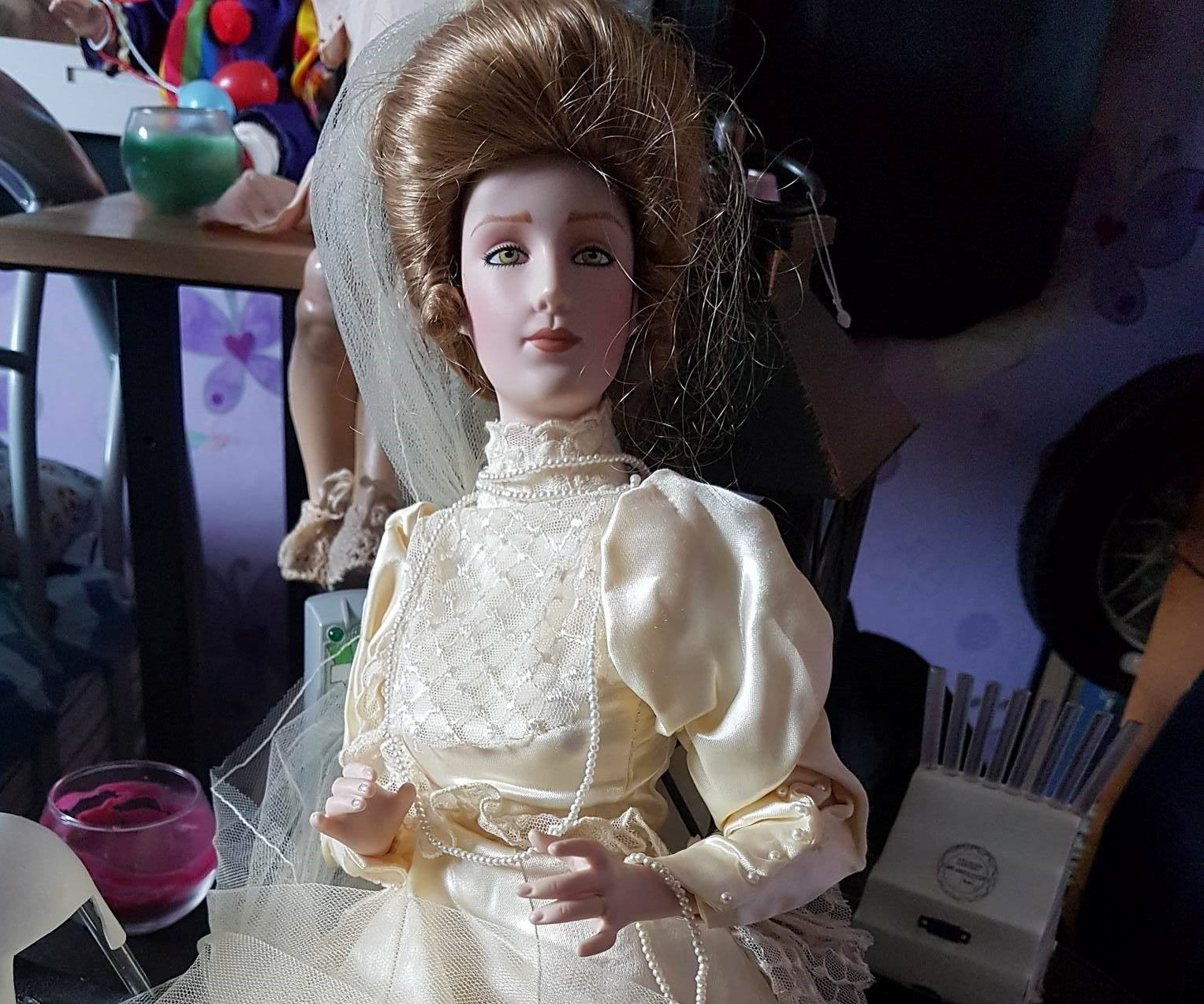 The Bridal Doll is said to give people nightmares and set off fire alarms.