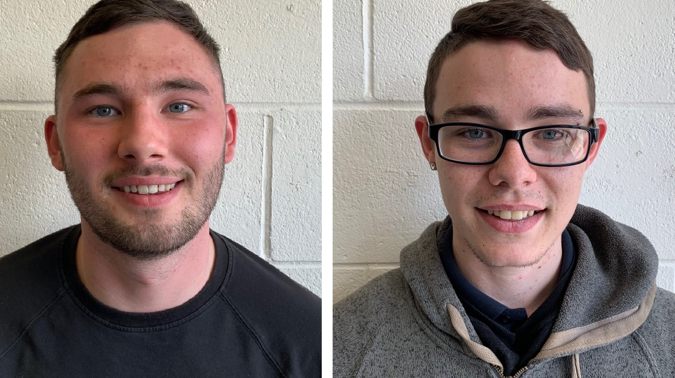 Ellis Wilson, apprentice joiner with NPS Humber, left, and Gavin Garner, facilities assistant at Hull Trinity Indoor Market.