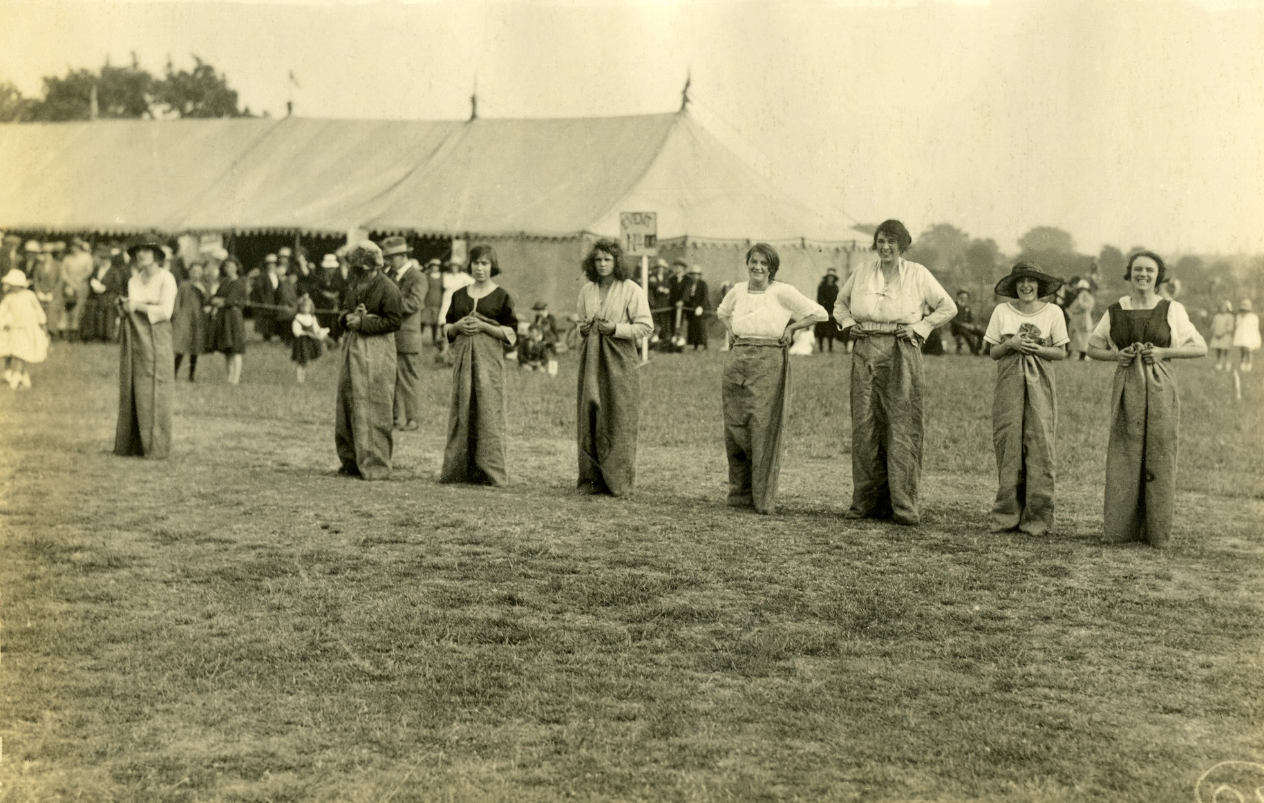 A sack race at the Needler's sports day in 1925.