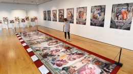 The replica of the roof of the Sistine Chapel on display in Winchester. Picture: Solent News and Photo Agency