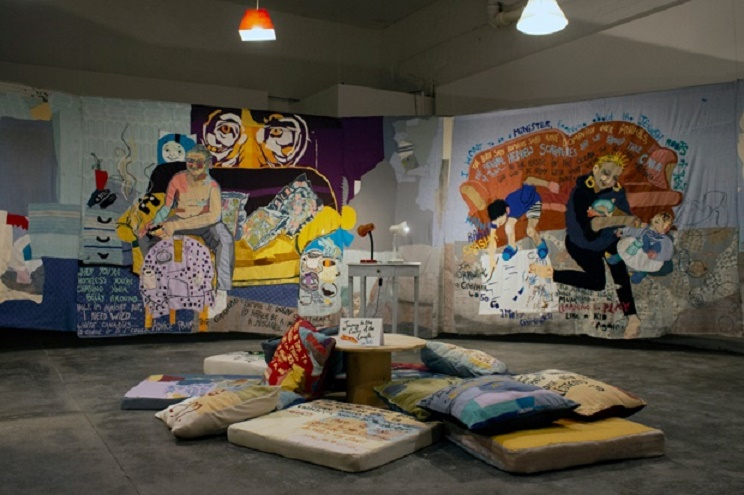 Journey To The Centre Of The Couch (Couches & Other Good Ideas), courtesy of Humber Street Gallery and Ella Dorton.