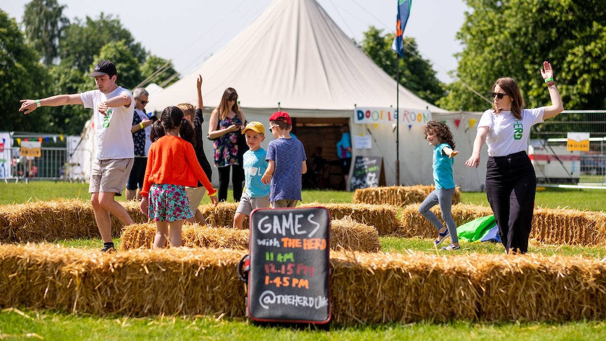 Games with The Herd at The Big Malarkey Festival. Picture: Jerome Whittingham @PhotoMoments