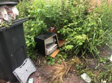 Waste found dumped in Barraclough's garden