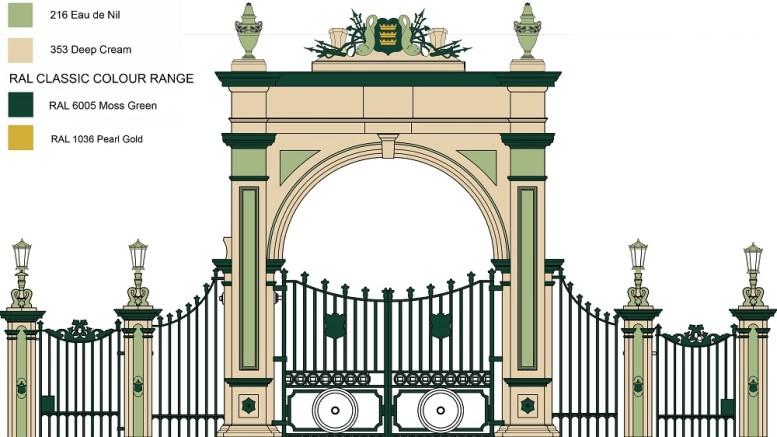 Pearson Park archway colour scheme