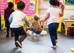 Children play as part of the Active Imaginations project.