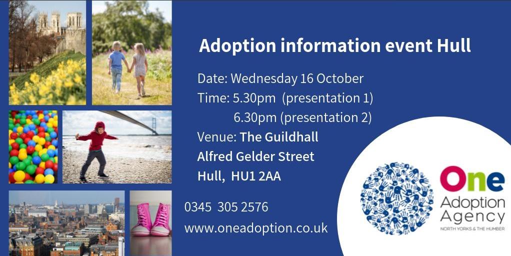 Adoption event poster