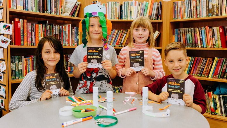Children who participated in the Hull fREADom Quest