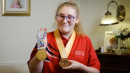 Sophie Carter, aged 15, is a Special Olympics gold medallist swimmer