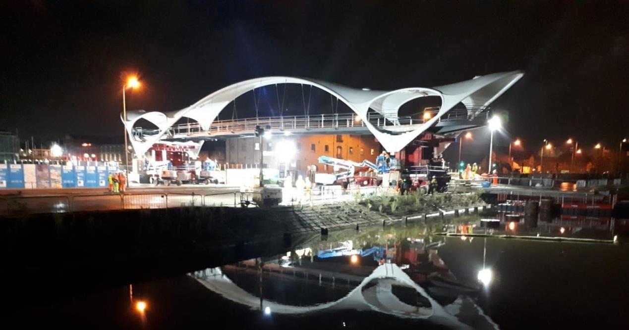 The A63 footbridge