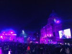 Hull City Hall lit up at the Christmas lights switch-on 2019.