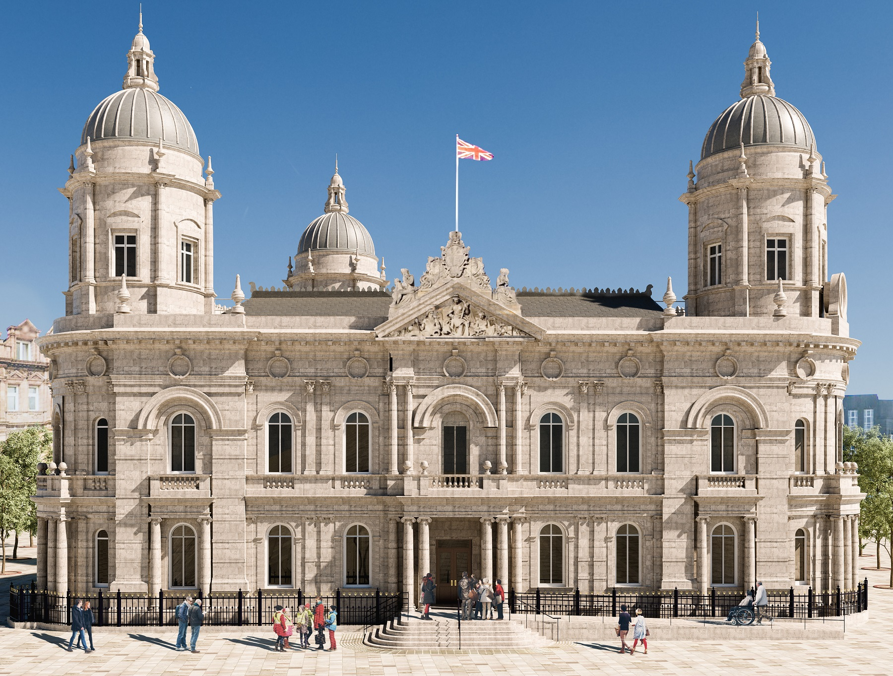 How the new ramp at the Hull Maritime Museum will look.