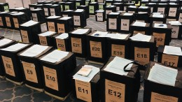 Polling boxes in Hull