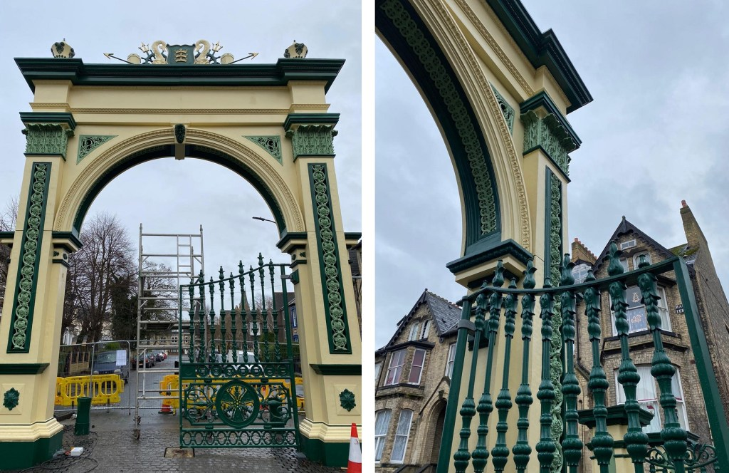 The Pearson Park archway