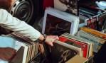 A man browses through vinyl records