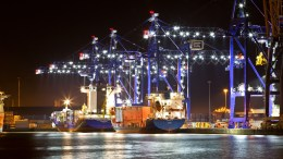 ABP's Hull Container Terminal at The Port of Hull.
