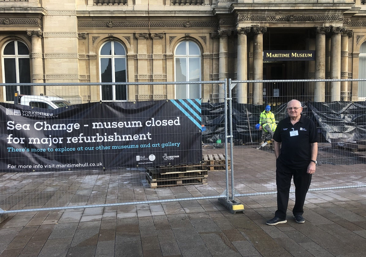 Volunteer Dave Todd has delivered guided tours at Hull Maritime Museum and Arctic Corsair.