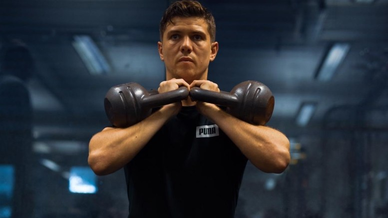 Hull boxer Luke Campbell working out
