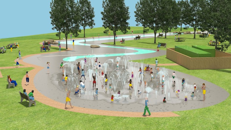 A CGI of the new East Park water play