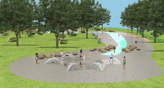 A CGI of the new East Park splash pad