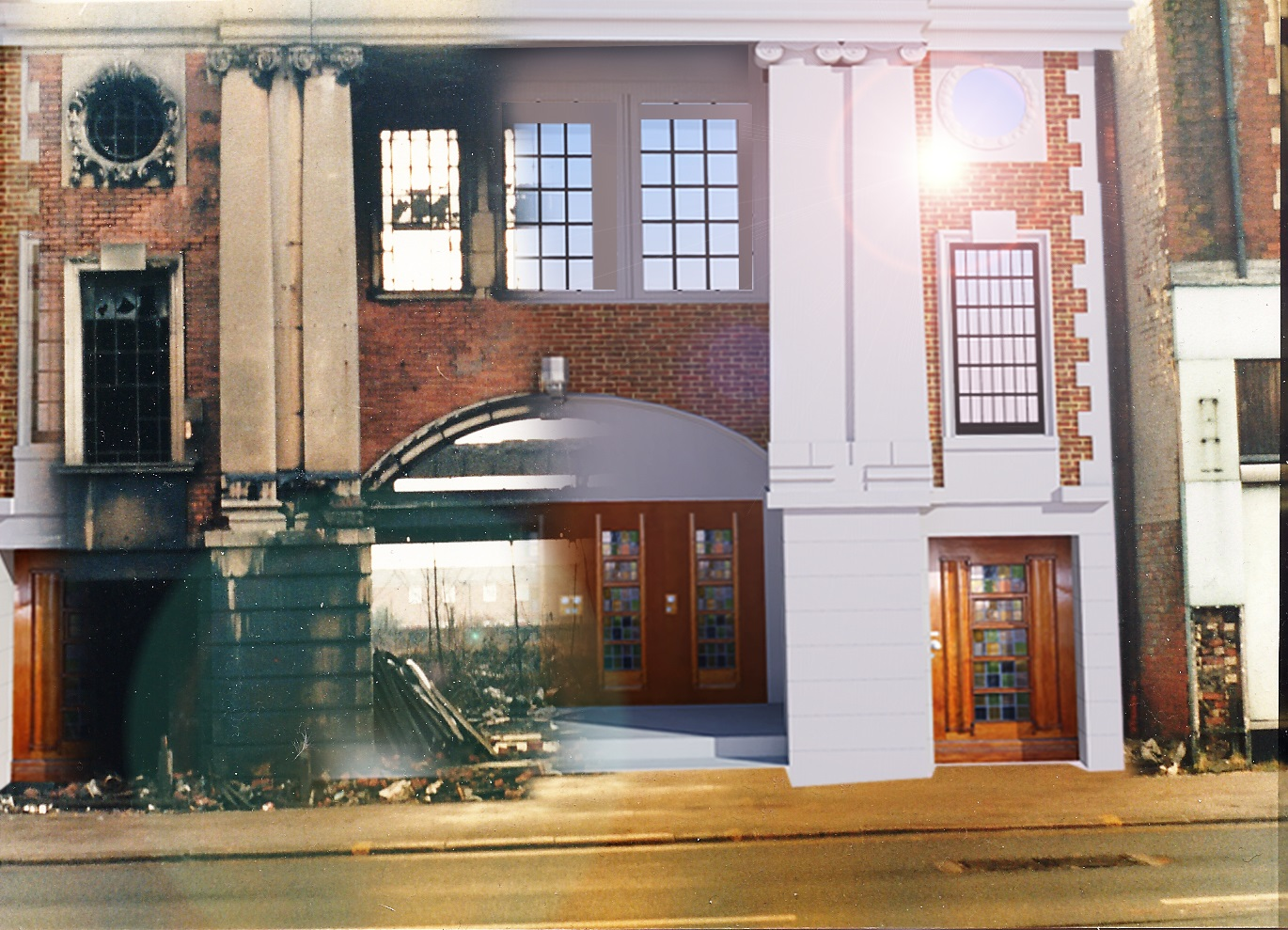 The National Picture Theatre in Beverley Road then and now