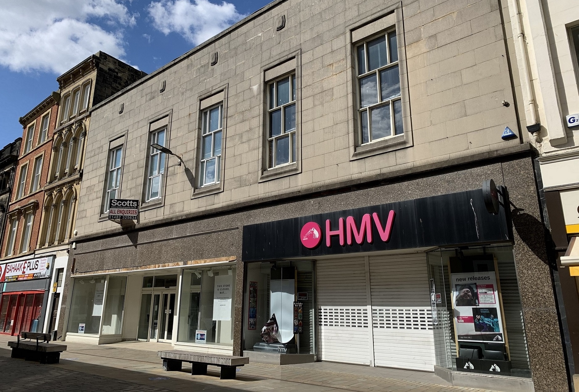 The HMV and former New Look stores in Whitefriargate.