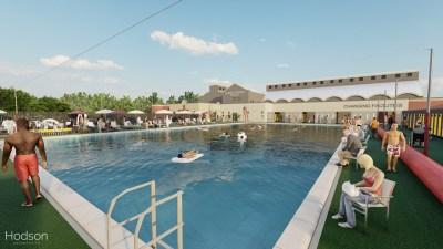 New CGI image of Albert Ave Pools refurbished lido